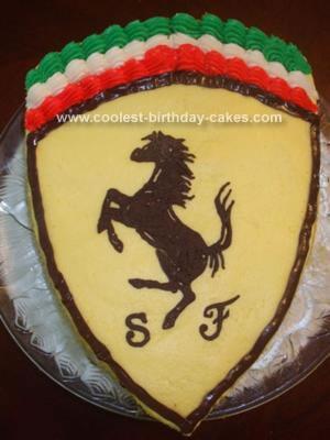 coolest ferrari emblem cake