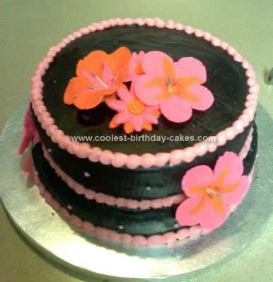 Coolest Hibiscus Flower Birthday Cake Design