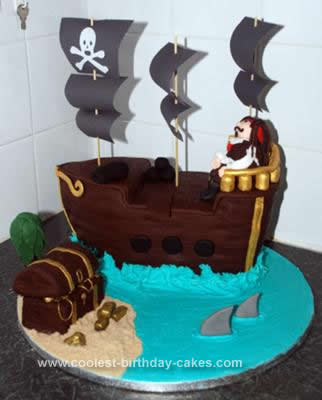 Coolest Pirate Ship Birthday Cake