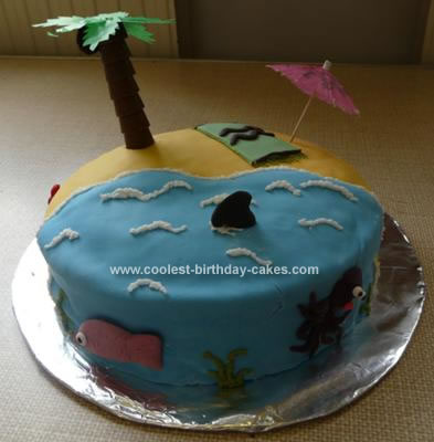 Coolest Tropical Island Cake
