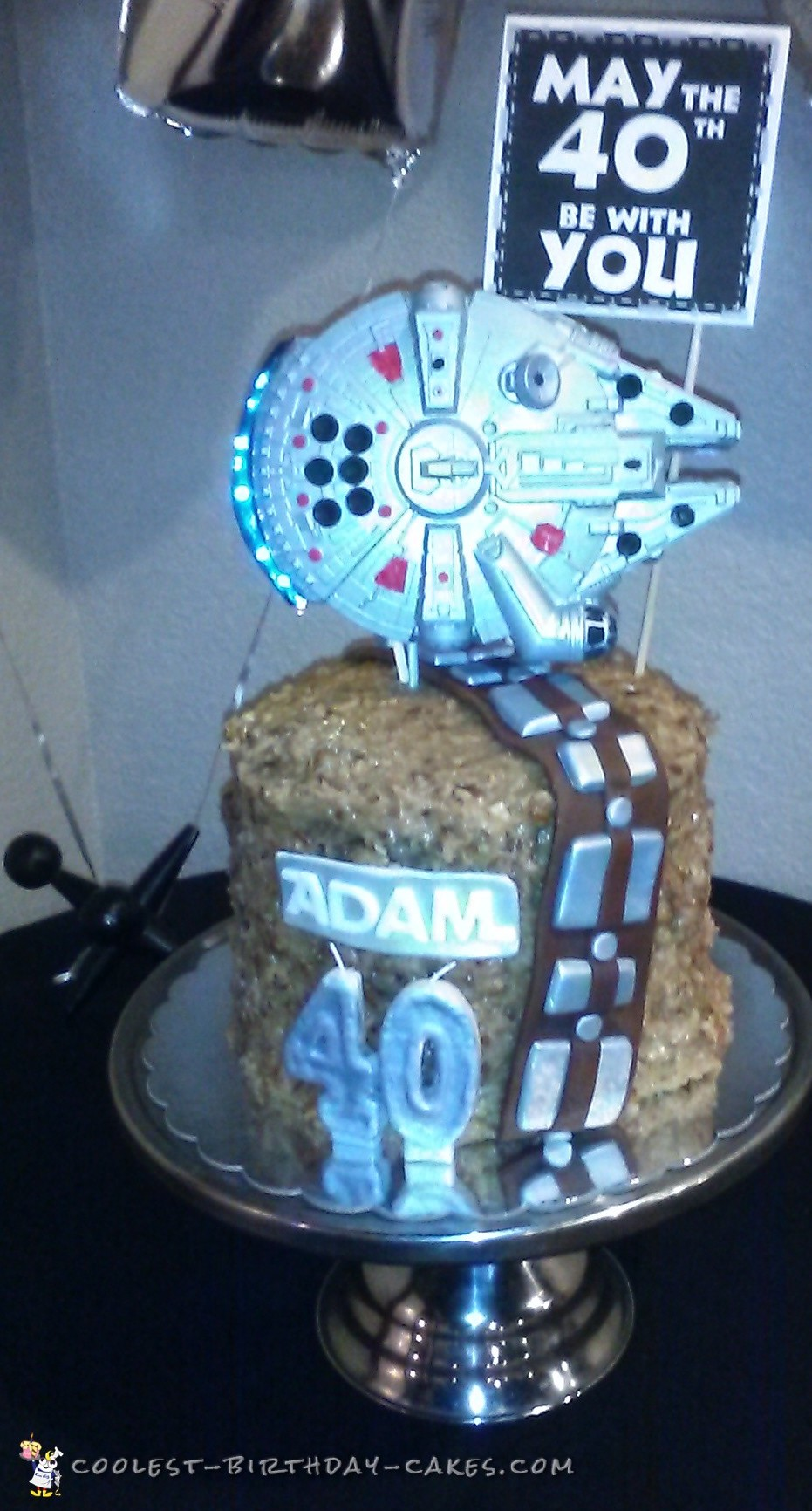 Coolest Homemade Star Wars Cake For My Husbands 40th Birthday