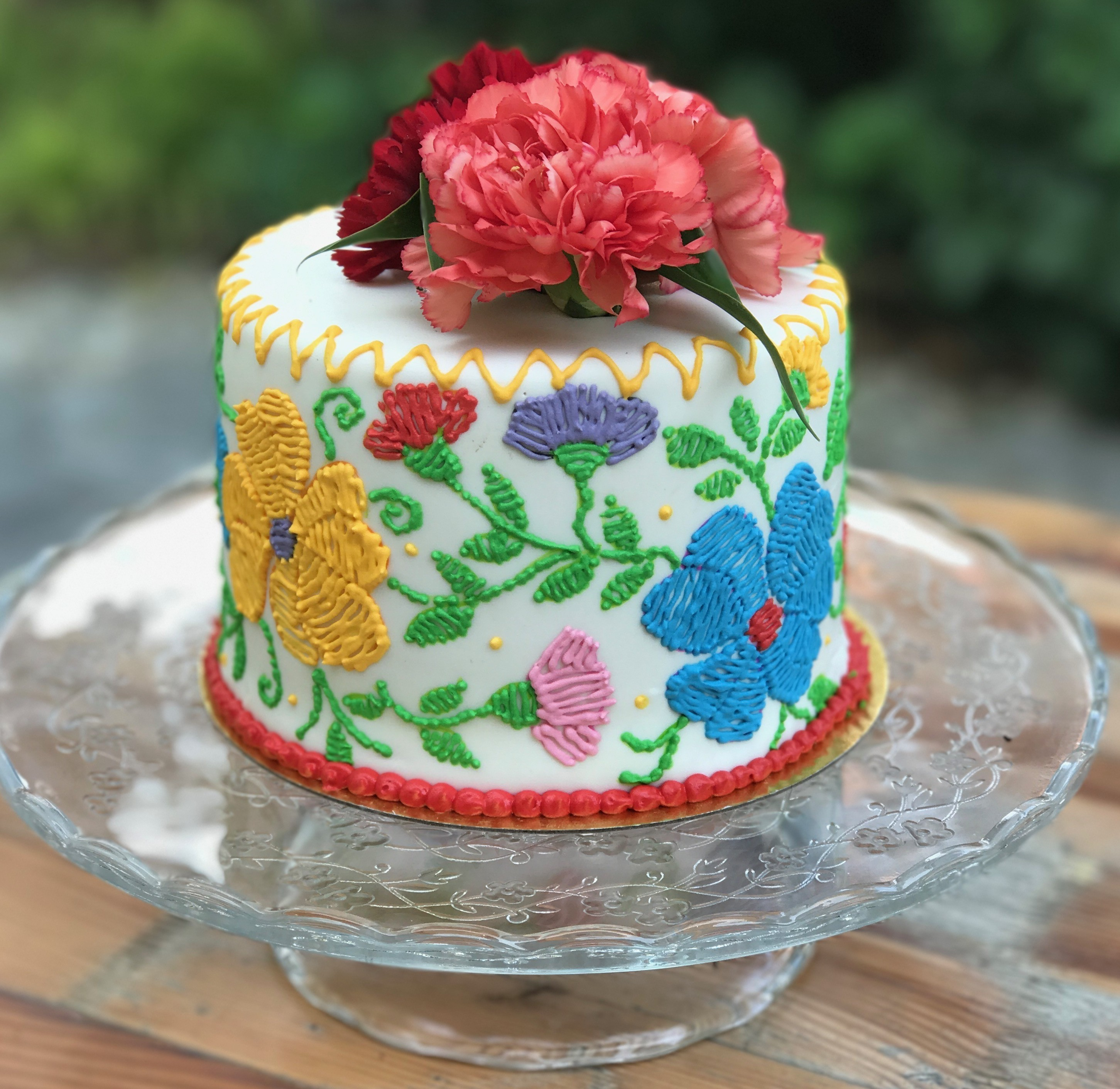Stunning Homemade Mexican Embroidery Cake Design
