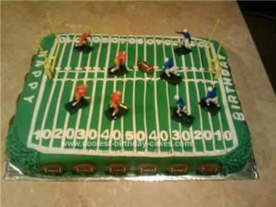 Cool Homemade Football Field Birthday Cake