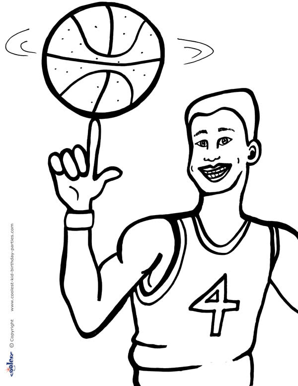 Printable Basketball Coloring Page 4