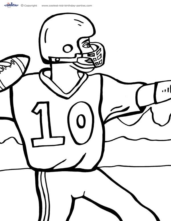 Printable Football Coloring Page 3