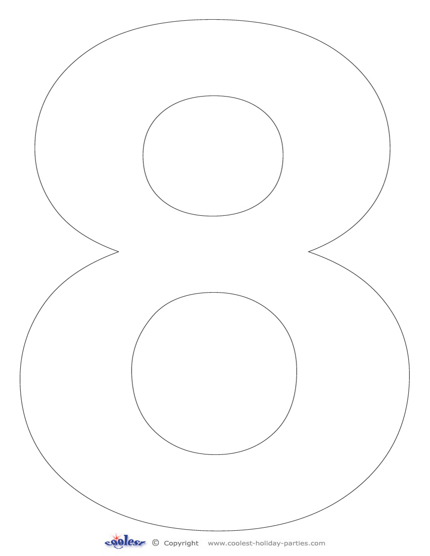 Number 8 Coloring Sheets For Preschoolers Coloring Pages