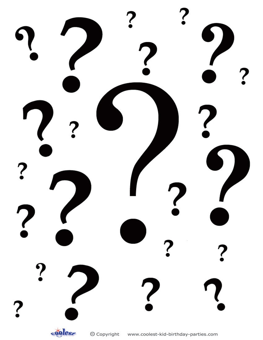 Printable Question Marks Decoration 2
