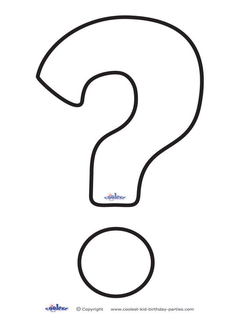 Printable Question Mark 1 Decoration