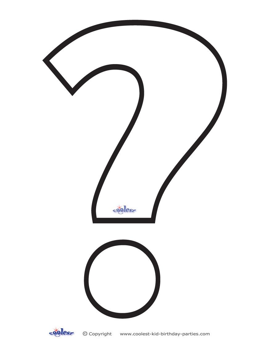 Printable Question Mark 3 Decoration