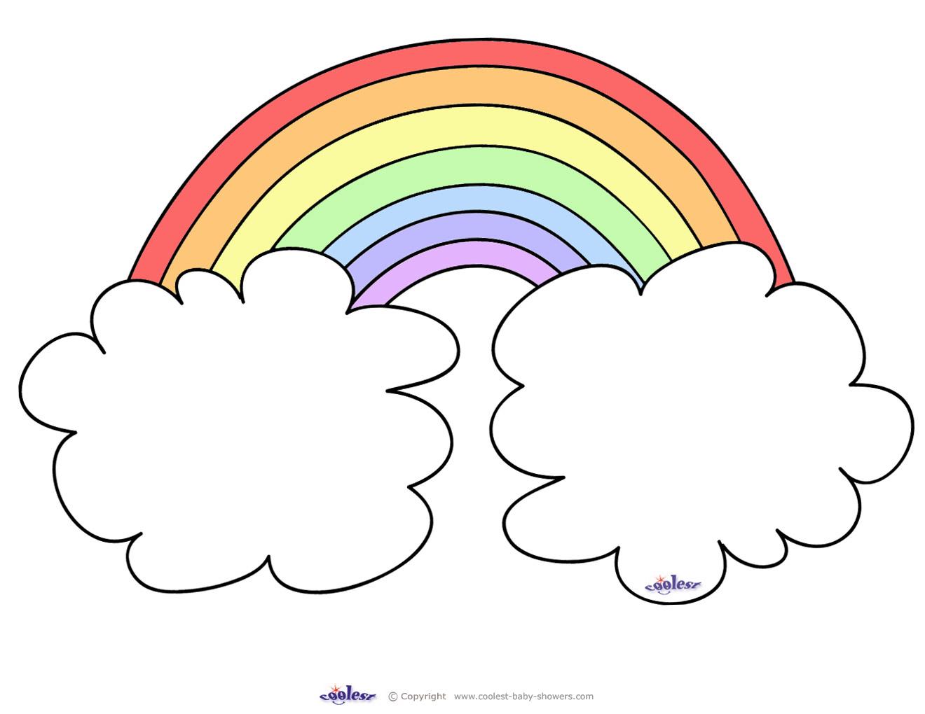 Large Printable Rainbow
