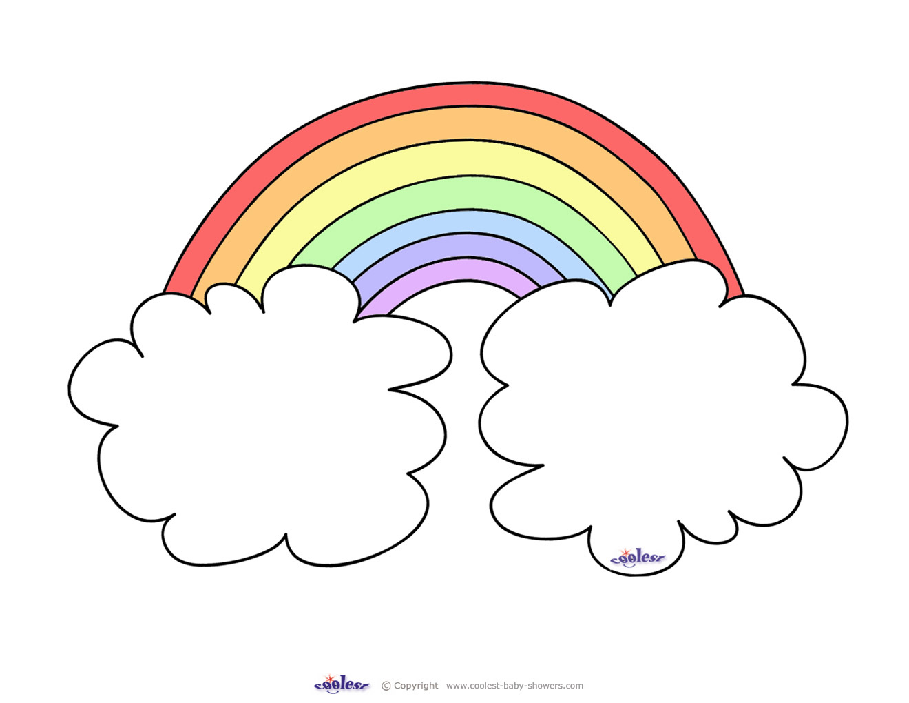 Blank Printable Rainbow Invitations