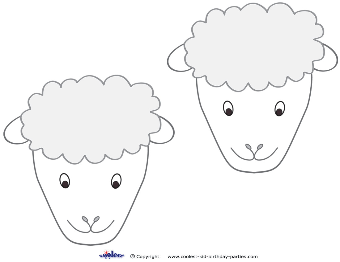 Sheep Face Coloring Page