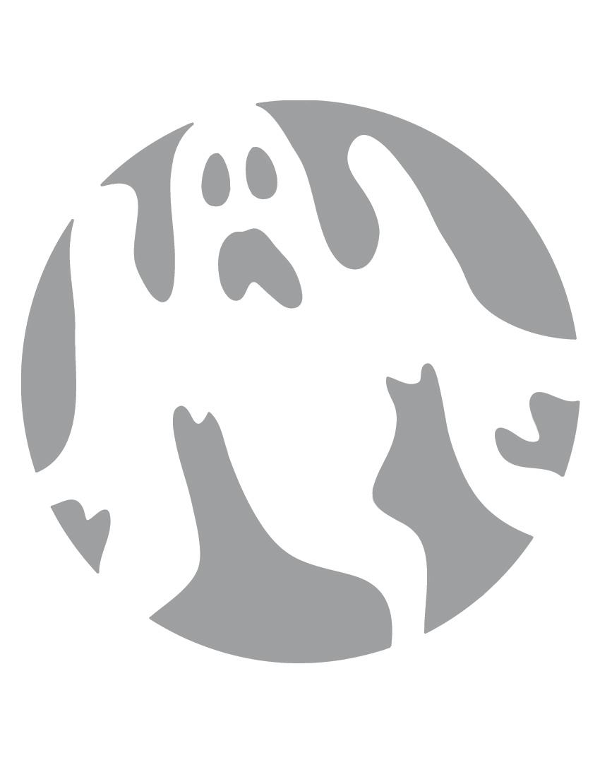 Ghost Stencil Cake Ideas And Designs