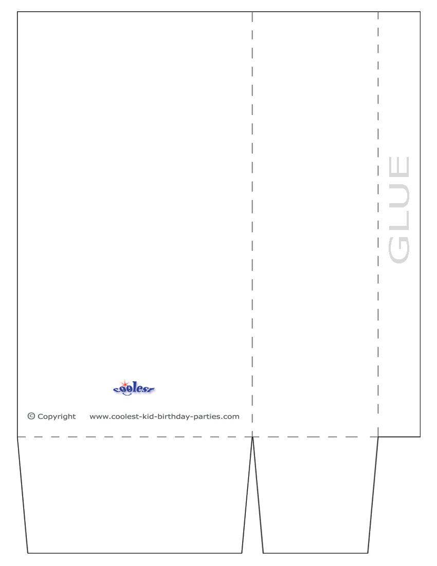 Large Blank Printable Favor Bag Template