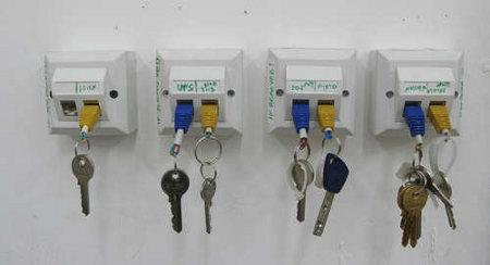 Rj 45 Keychain Rack For Recycling Fans 187 Coolest Gadgets