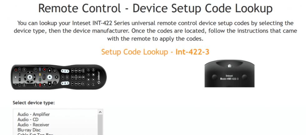 Inteset Remote Setup