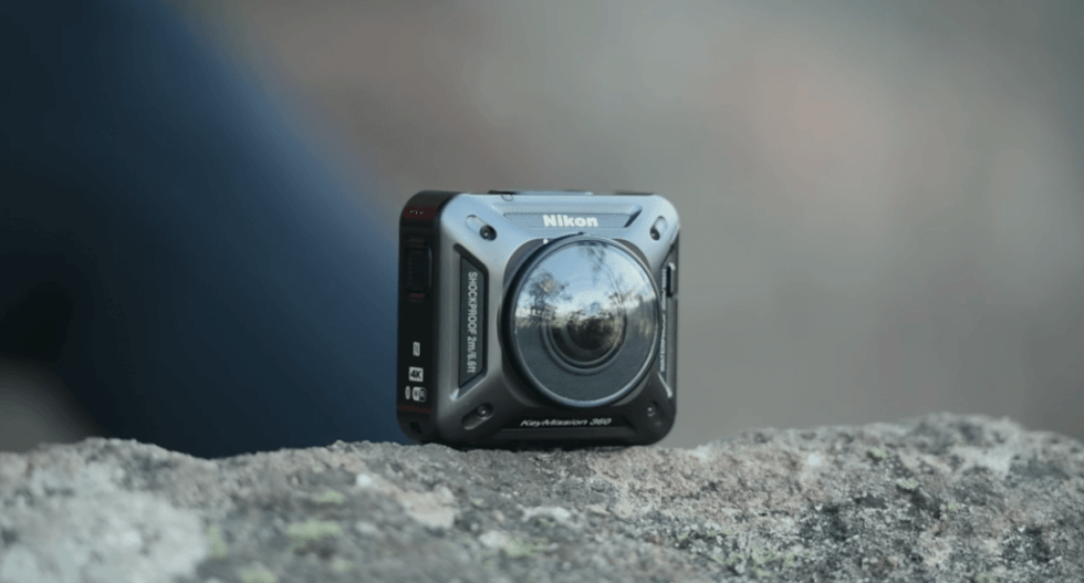 Nikon KeyMission 360 on rock