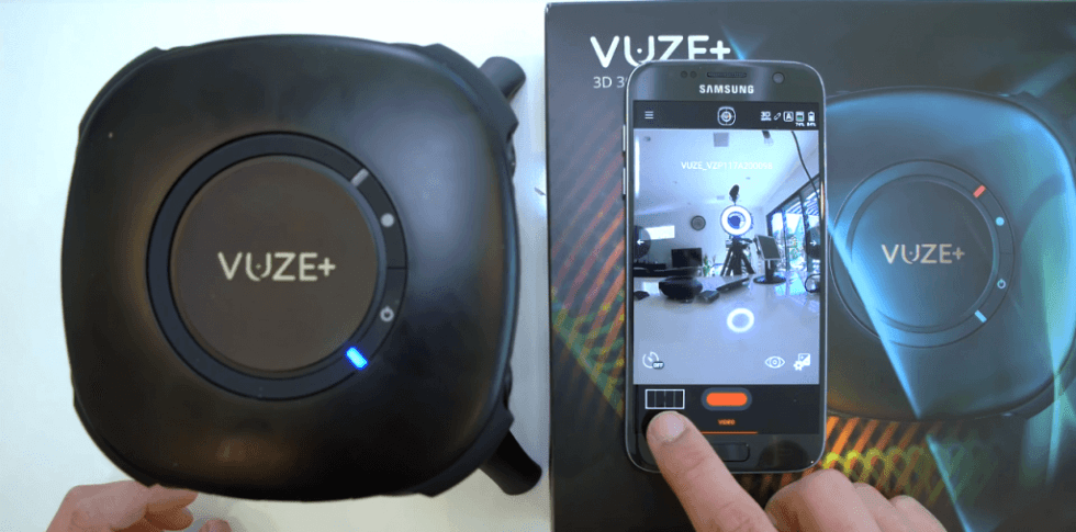 Vuze 3D 4K VR 360-Degree Camera smartphone setup