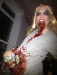 Scariest Pregnant Zombie Costume Ever!