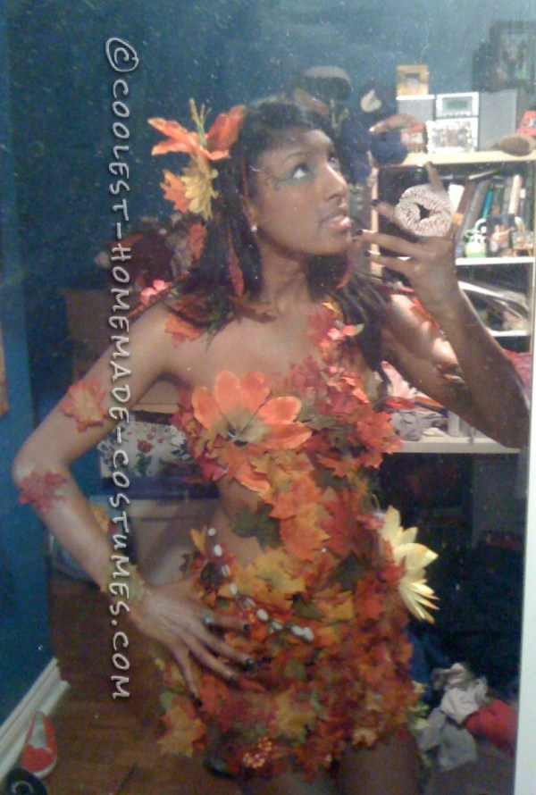Sexy Diy Costume Idea Autumn Tree Nymph