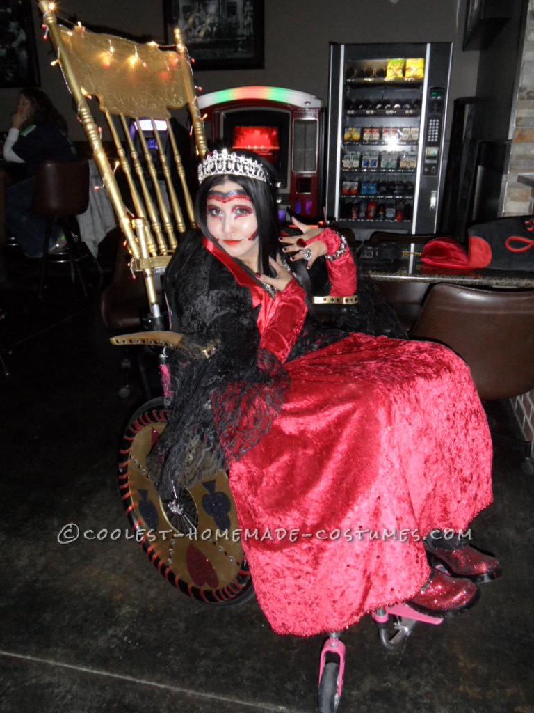 how to make a queen throne chair used barber chairs for cheap awesome wheelchair costume of hearts and her golden