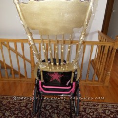 How To Make A Queen Throne Chair Where Get Chairs Reupholstered Awesome Wheelchair Costume Of Hearts And Her Golden