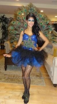 Beautiful DIY Woman's Peacock Costume