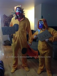 Homemade Catdog Couple Costume for Adults