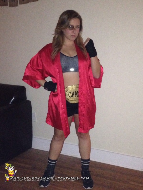 Knockout Woman' Boxer Costume