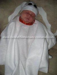 Homemade Zero the Ghost Dog Baby Costume