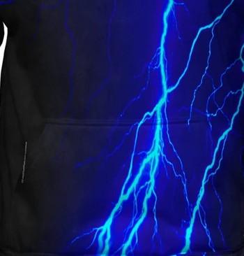 blue lightning hoodie design