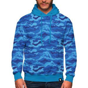 Cool Blue Camo Hoodie