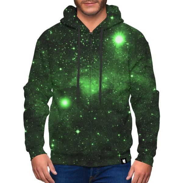 Green Space Galaxy Hoodie Design