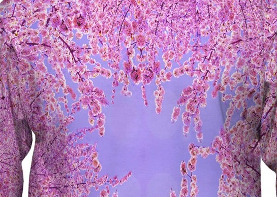 Pink cherry blossom hoodie