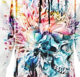 Multicolor Hoodie Dress