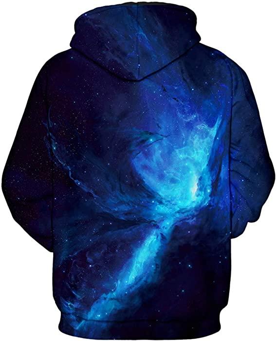 Blue Galaxy Hoodie for Men