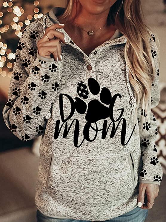 Dog Mom Hoodie Sweatshirt