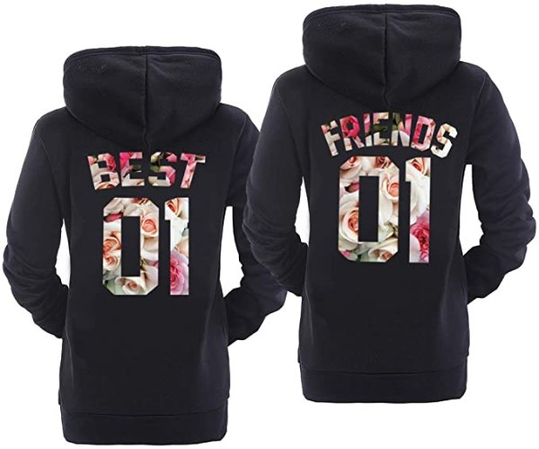Matching Hoodies for Best Friends