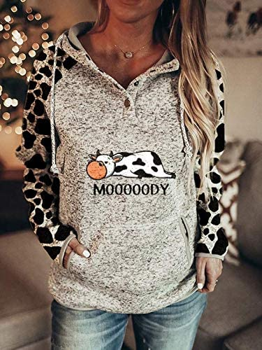 Moody Cow Hoodie For Women