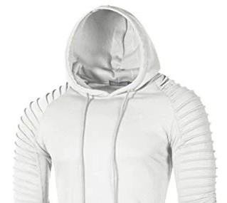 Plain white long sleeve hoodie mens