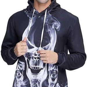 Skull Hoodie in Black