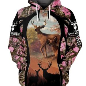 Pink Camo hoodie for Women