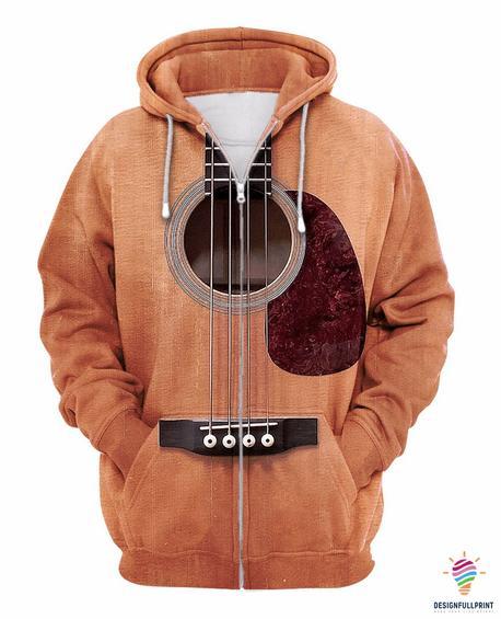 Guitar Hoodie Zip up