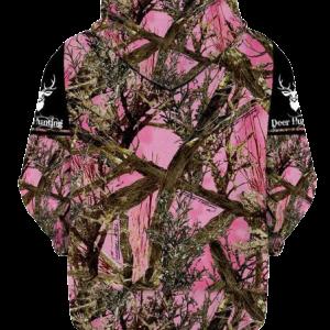 Womens Pink Camo Hoodie
