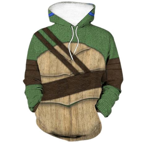 Teenage Mutant Ninja Turtles Leonardo blue hoodie