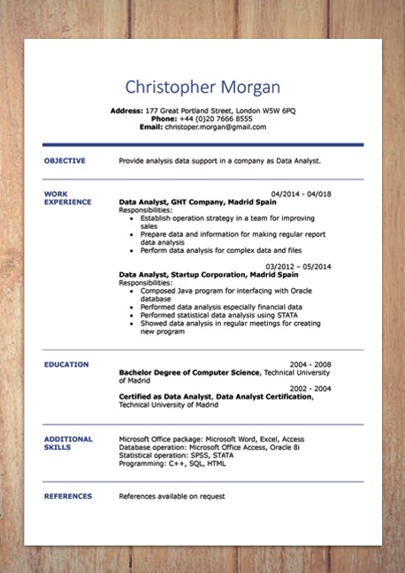 background cv word