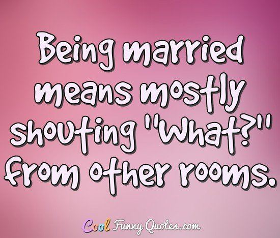 being married means mostly