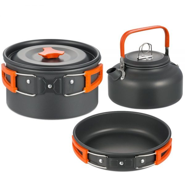 Camping Kochgeschirr Set Outdoor Gadget Kochen in der Natur