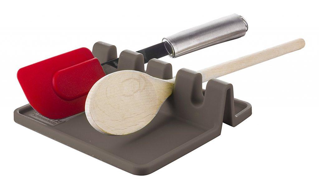 Küchenutensilienablage - Kochlöffelhalter Silikon Grau
