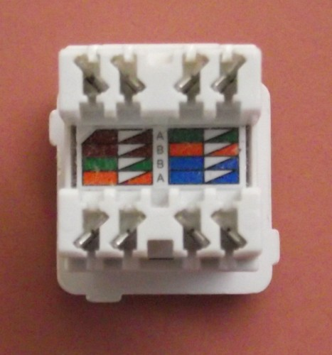 Cat5e Wiring Wall Outlet
